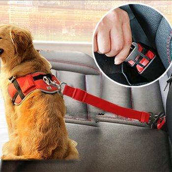 Vehicle Car Pet Dog Seat Belt Puppy Car Seatbelt Harness Lead Clip Pet Dog Supplies Safety Lever Auto Traction Products 3S1 Dog's Accessories