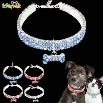 Dog Collar Bling Rhinestone Crystal Necklace Puppy Chihuahua Pet Dog Collars Leash For Small Medium Dogs Cat's Accessories Dog's Accessories