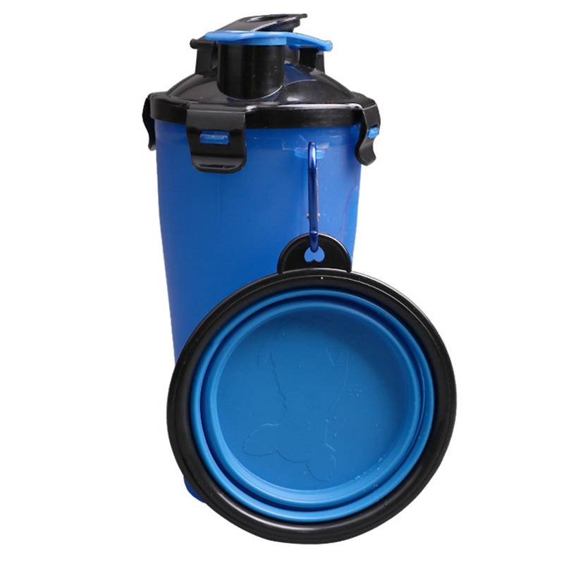 Multifunction 2 in 1 Pet Feeder Dog Water Bottle Collapsible Dog Bowl Travel Outdoor Food Water Drinking Fountain For Dogs Cats Cat's Accessories Dog's Accessories