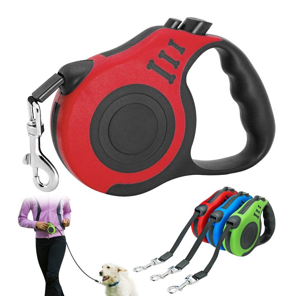 3M/5M Retractable Dog Leash Automatic Dog Puppy Leash Rope Pet Running Walking Extending Lead For Small Medium Dogs Pet Products Dog's Accessories