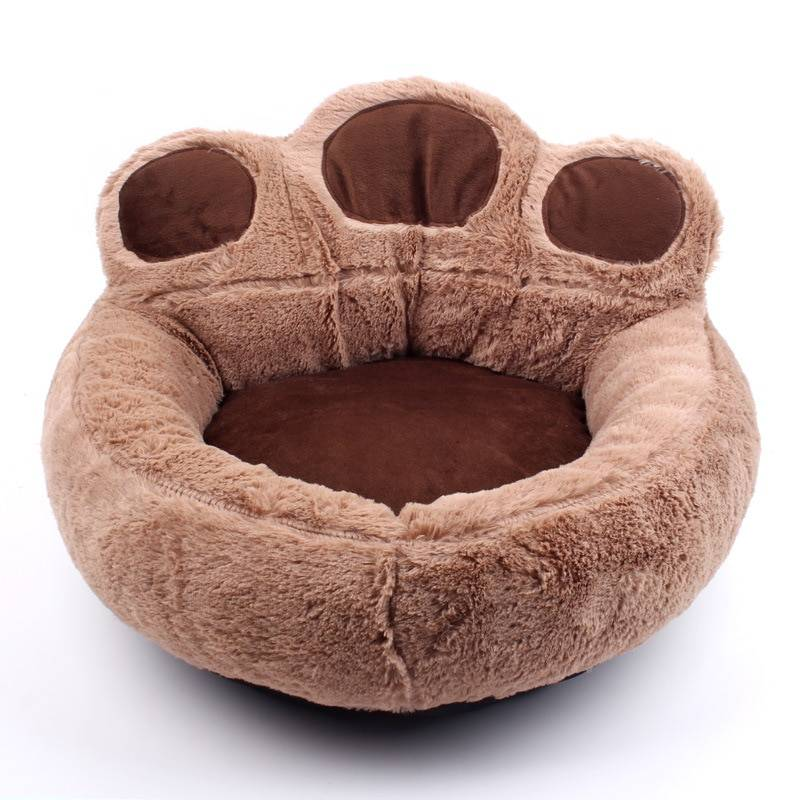Pet Dog Cat Warm Bed Winter Lovely Dog Bed Soft Material Pet Nest Cute Paw Kennel For Cat Puppy Sofa Beds For Dogs Accessories Dog's Accessories