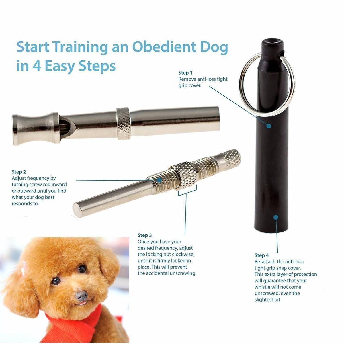 UltraSonic Pet Dog Training Whistle Adjustable Sound Silent Key Chain 9cm Fashion style Dog Training Product for Pet Dog Trainer Dog's Accessories