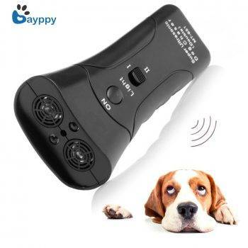 High Quality Newest Ultrasonic Dog Chaser Stop Aggressive Animal Attacks Repeller for Dogs Anti Barking Stop Bark Flashlight Dog's Accessories