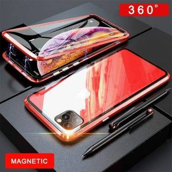 360 Brand Metal Case For iPhone 6 7 8 Plus XS XR MAX Case Magnetic Luxury Tempered Glass Cover For Apple iPhone 11 Pro Max Case iPhone Case Phone Bags & Cases
