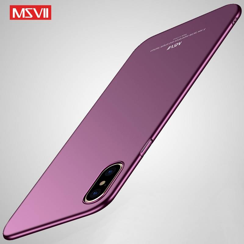 For iPhone 11 Pro Max Case MSVII Matte Coque For Apple iPhone X XR XS Max XS iPhonex Hard PC Cover For iPhone11 Pro Max 11 Cases iPhone Case Phone Bags & Cases