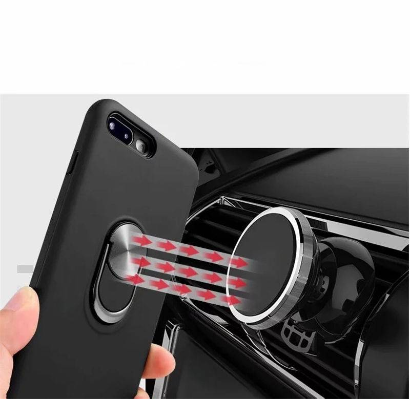 For Samsung Galaxy A10 A20 A30 A40 A50 Case Luxury Car Holder Metal Ring Candy Color Soft TPU Case for Galaxy A60 A70 A80 Cover Phone Bags & Cases Samsung Case