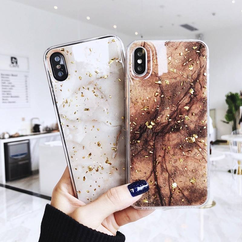 Glittering Stone Textured Soft Case for iPhone iPhone Case Phone Bags & Cases