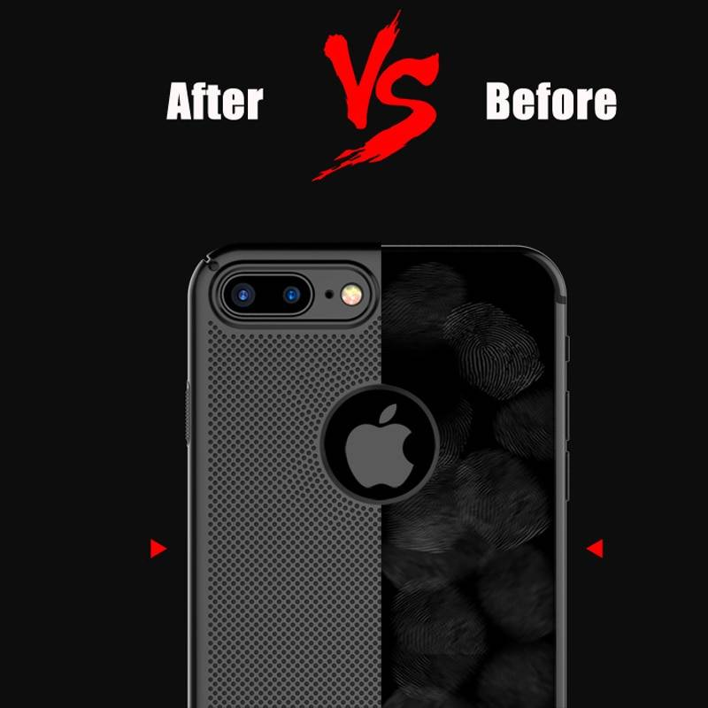 Ultra Slim Phone Case For iPhone 6 6s 7 8 Plus Hollow Heat Dissipation Case Hard PC For iPhone 5 S SE 11 Pro Cover Coque X S MAX iPhone Case Phone Bags & Cases