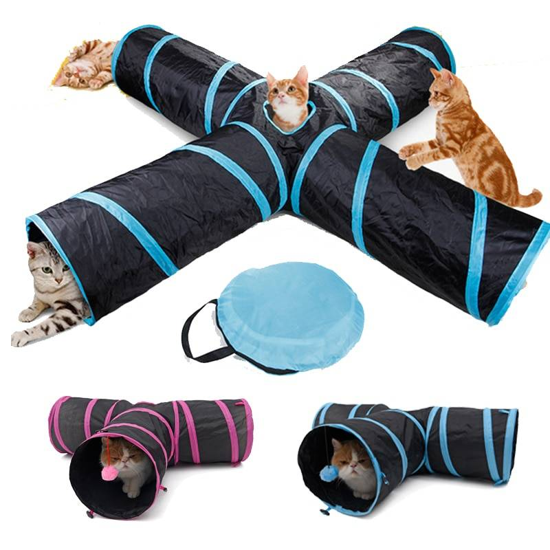 Four Holes Tunnel Toy for Cats Cat's Accessories