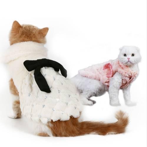Elegant Winter Coat Cat's Accessories