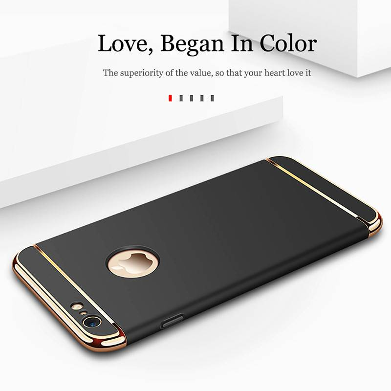 Luxury Gold Hard Case for iPhone 7 6 6s 5 5s SE X Back Cover Xs Max XR 11 Pro Removable 3 in 1 Case for iPhone 8 7 6 6s Plus Bag iPhone Case Phone Bags & Cases