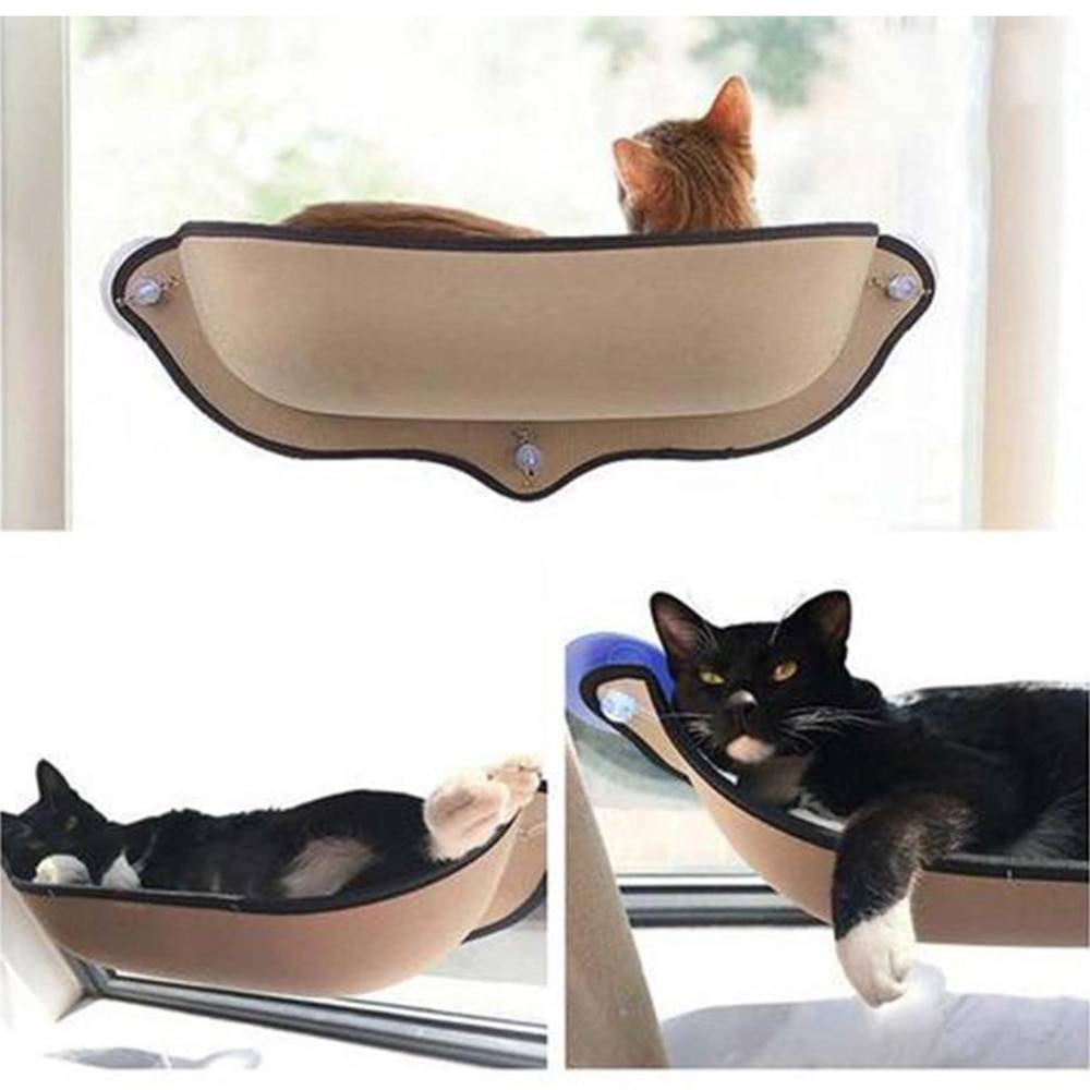 Cat Hammock Bed Mount Window Pod Lounger Suction Cups Warm Bed For Small Big Pet Cat Rest House Sun Wall Bed Soft Ferret Cage Cat's Accessories