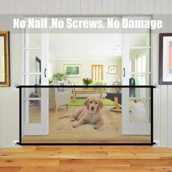 New Pet Barrier Fences Portable Folding Breathable Mesh Dog Gate Pet Separation Guard Isolated Fence Dogs Baby Safety Fence Dog's Accessories