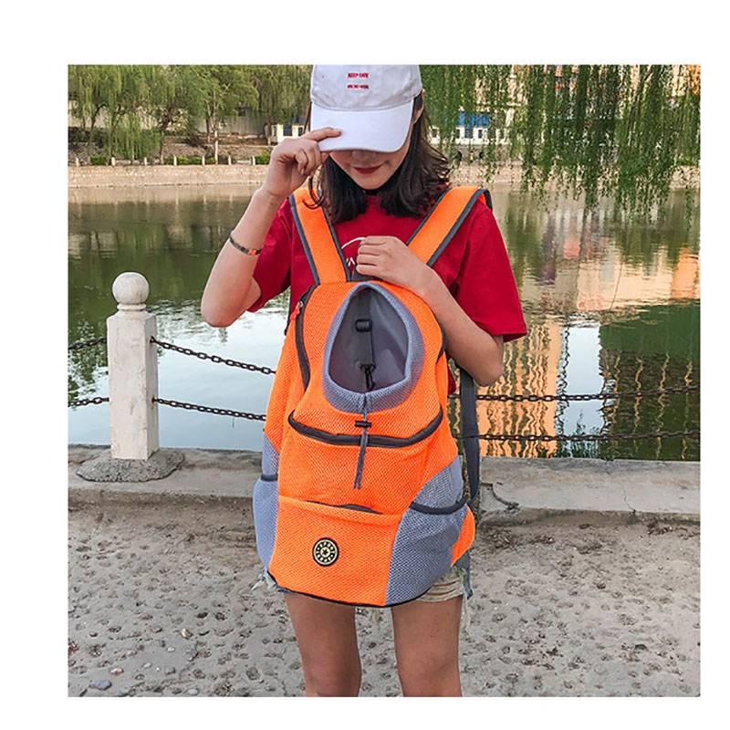 Venxuis New Out Double Shoulder Portable Travel Backpack Outdoor Pet Dog Carrier Bag Pet Dog Front Bag Mesh Backpack Head Dog's Accessories
