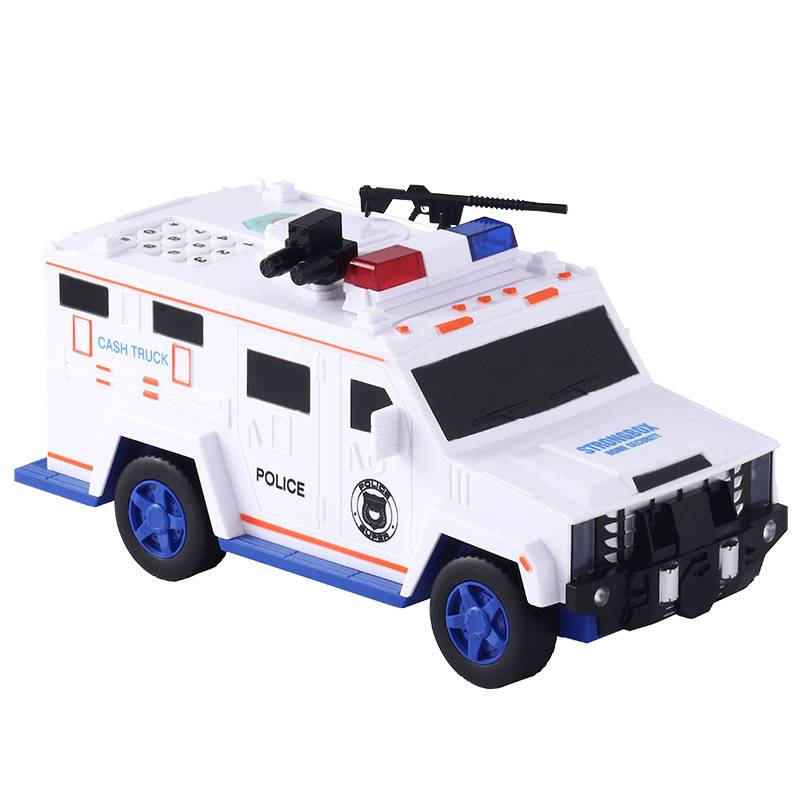 Fingerprint Password Cash Truck Car Piggy Bank Kids Money Box Coin Paper Bank Safe Saving Storage Box Alcancias Music Toy Gift Souvenirs