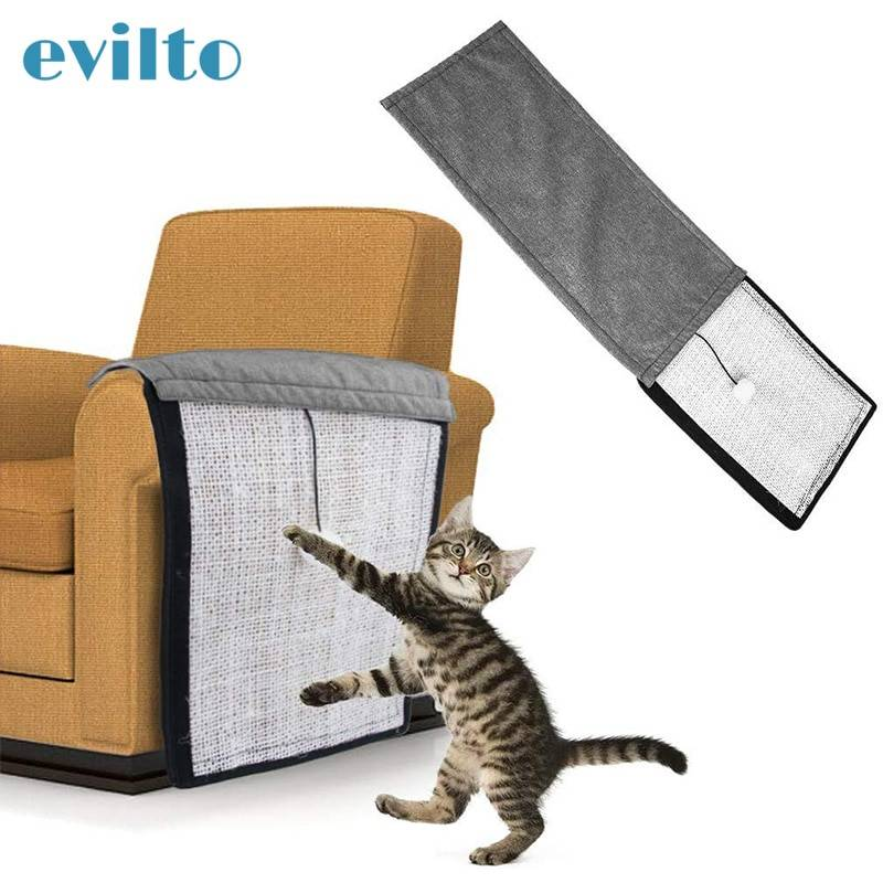 Pet Furniture for Cats Scratch Board Natural Sisal Protecting Furniture Chair Protector Pad Cotton Cat Toy Sofa Scratching Post Cat's Accessories