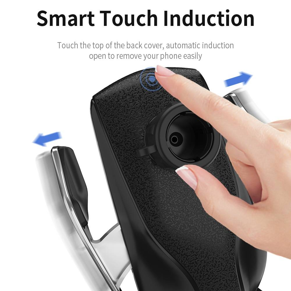Automatic Clamping 10W Wireless Charger Car Holder Universal Smart Infrared Sensor Qi GPS Air Vent Mount Phone Supports iPhone Case Phone Bags & Cases