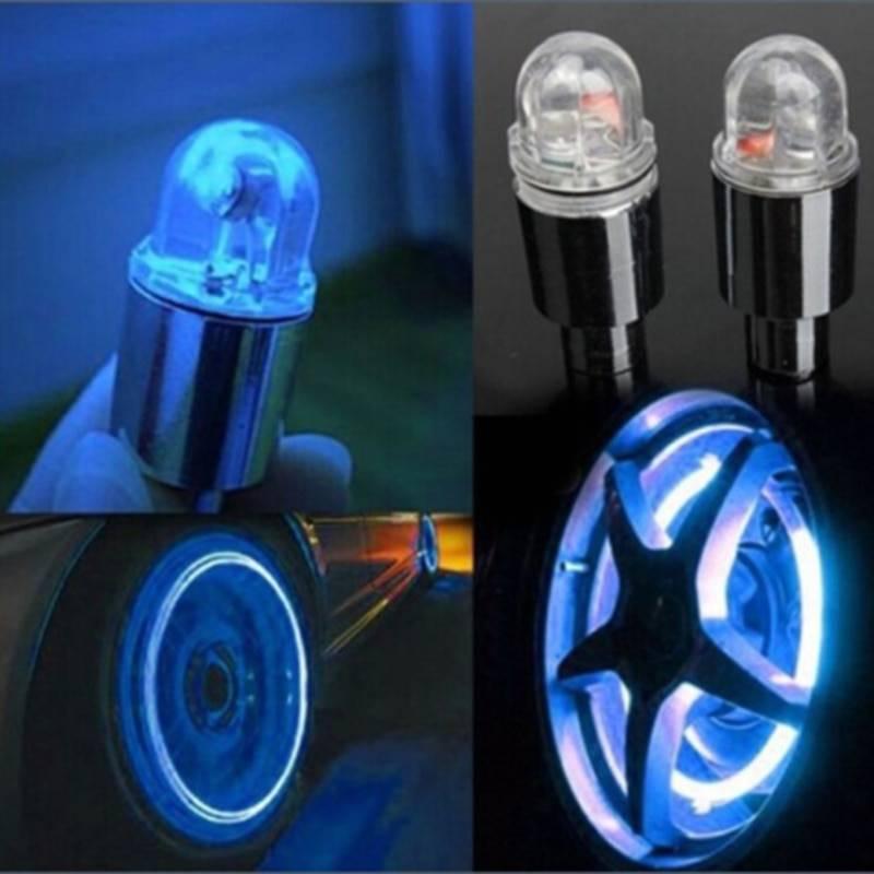 4pcs Auto cars Accessories wheel light decoration Bike tire Led light deco LED lighte Tire Valve Cap cars motorcycle accessories Car Accessories