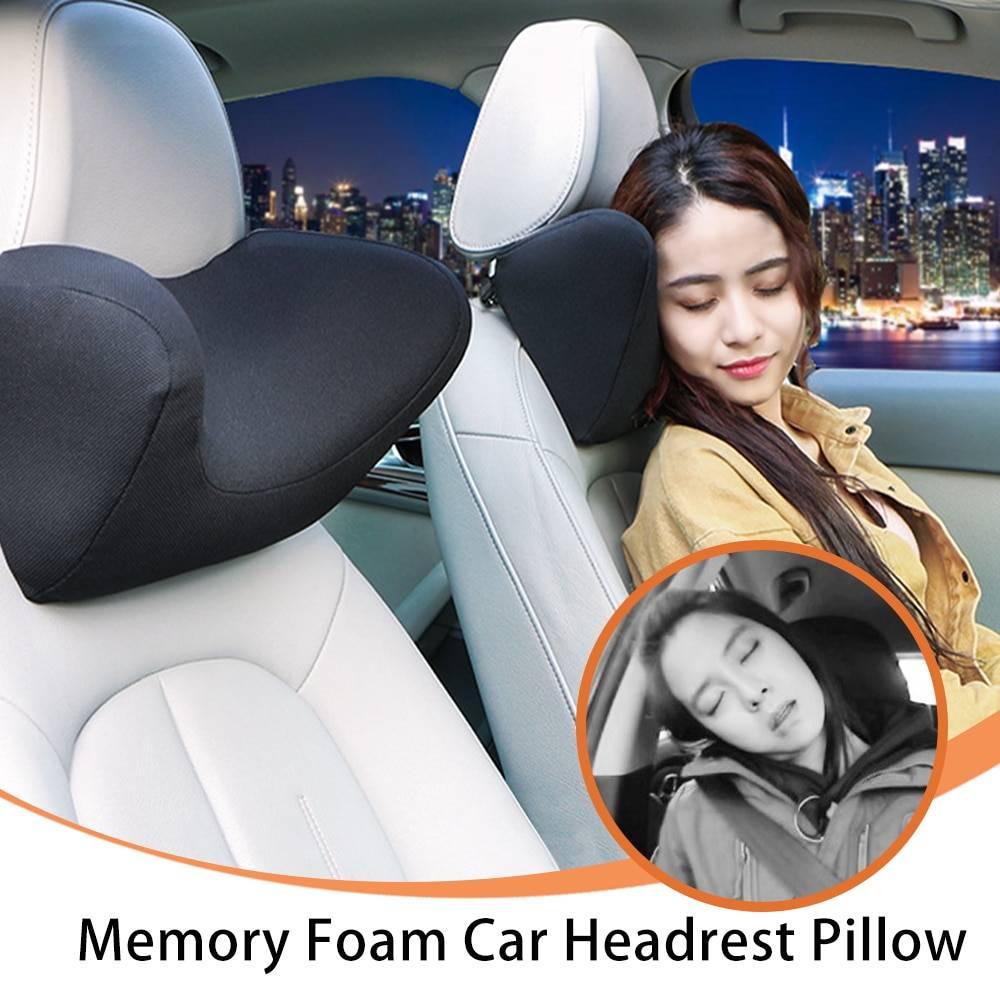 Car Neck Pillow Seat Head Neck Rest Auto Memory Foam Support Protector Automobiles Headrest Pillow Protection Universal Decor Car Accessories