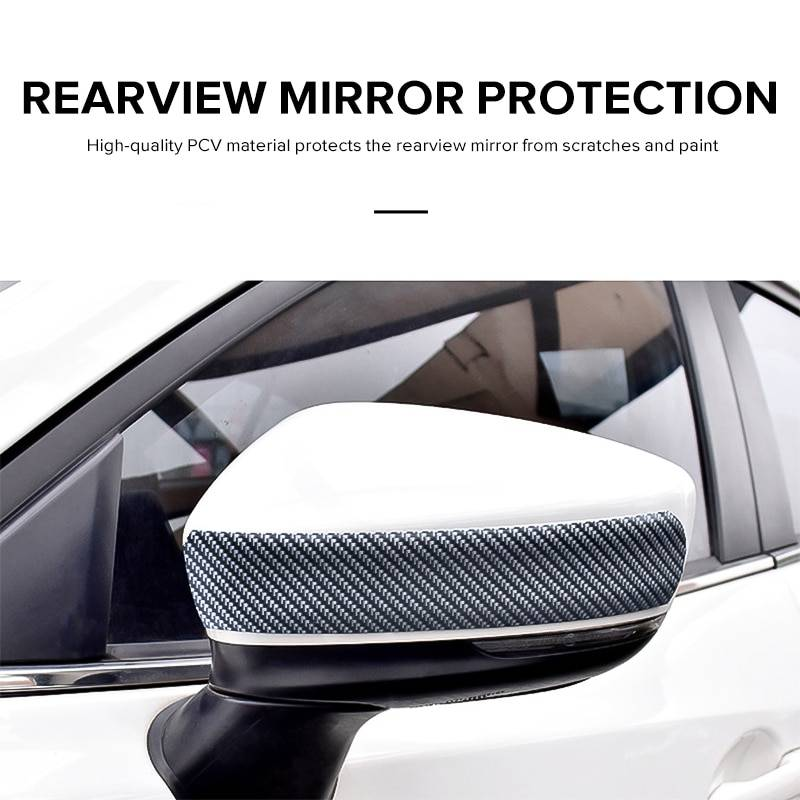 Car Stickers 5D Carbon Fiber Rubber Styling Door Sill Protector DIY Door Sill Protector Edge Guard Car Stickers Car Accessories Car Accessories