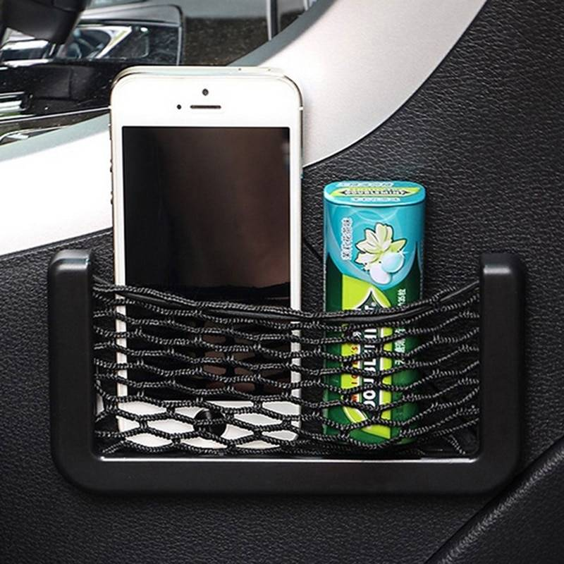 Car Storage Net Bag Auto Accessories for Renault Duster Laguna Megane 2 3 Logan Captur Clio Sticker Pocket Organizer Net Car Accessories