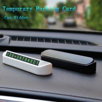Car Temporary Parking Card Phone Number Card Plate Telephone Number Car Park Stop Automobile Accessories Car-styling 13×2.5cm Car Accessories