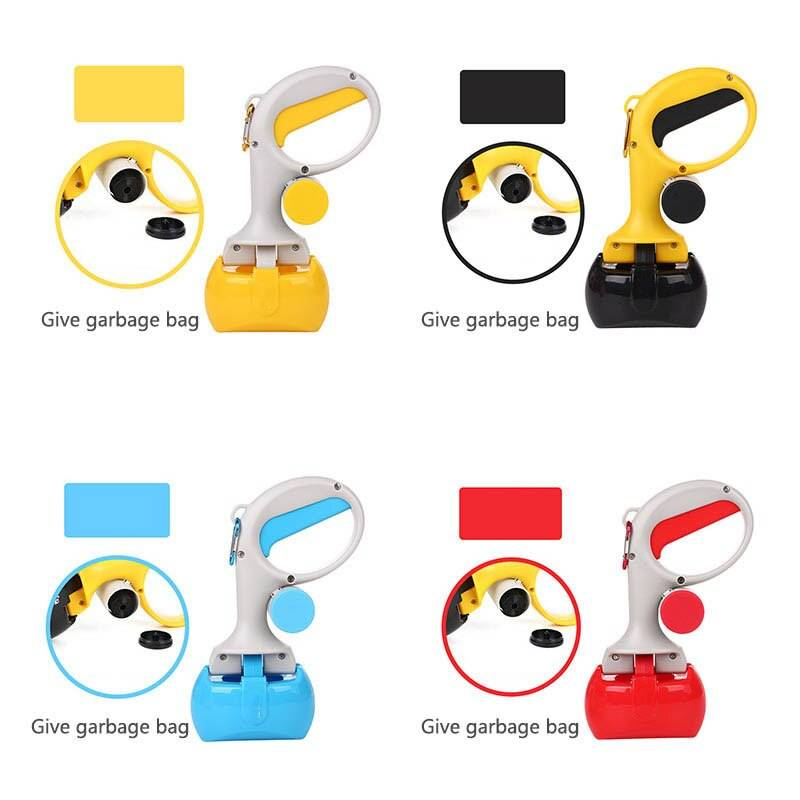 Portable Pet Pooper Scooper Dog Pickup Clip Waste Scoop Sanitary Pickup Remover for Outdoor Cleaning Puppy Cat Easy Cleaning Dog's Accessories