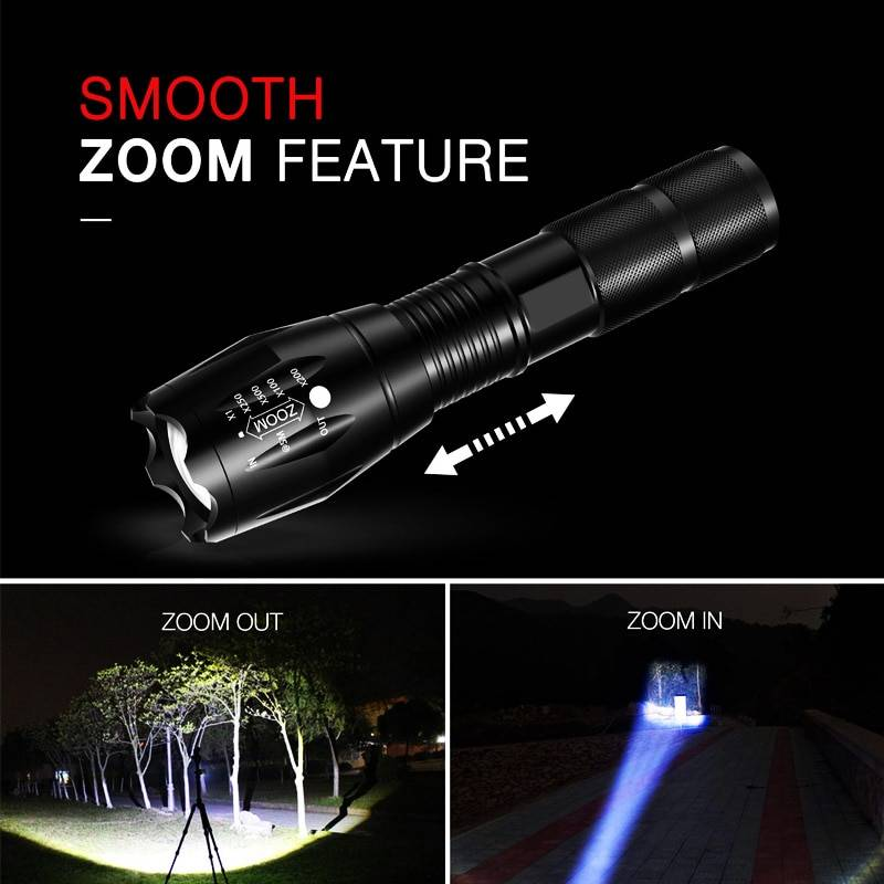 T20 Q250 Led Flashlight Ultra Bright T6/L2/V6 Torch Zoomable 5 Modes TL360 Waterproof Resistant Handheld Light Bicycle Light Car Accessories