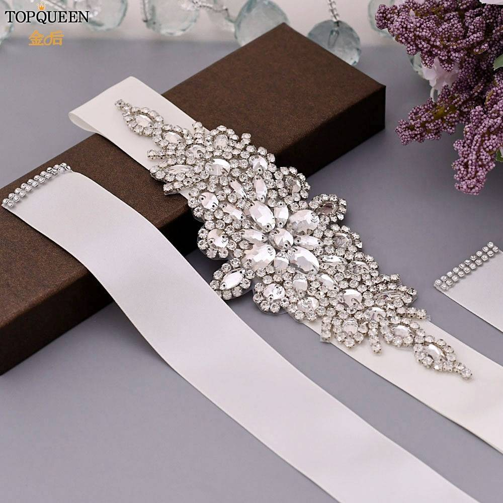 TOPQUEEN S01 Luxury Women's Belt Wedding Belt Accessories Bride Bridesmaid Bridal Sashes Belts For Evening Party Prom Gown Dress Jewelry Wedding & Engagement Jewelry
